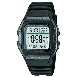 Casio Youth Digital Black Dial Mens Watch - W-96H-1BVDF (D054)