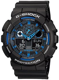 Casio G-Shock Analog-Digital Blue Dial Mens Watch - GA-