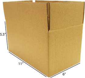 Brown/Packaging Corrugated 11 x 6 x 5.5 inch 3 Ply Pack of 25 Boxes by Ezellohub Delivery Free