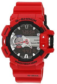Casio G-Shock Analog-Digital Red Dial Mens Watch - GBA-