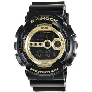 G-Shock Digital Gold Dial Mens Watch - GD-100GB-1DR (G340)