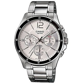 Casio Enticer Chronograph White Dial Mens Watch - MTP-1374D-7AVDF (A833)