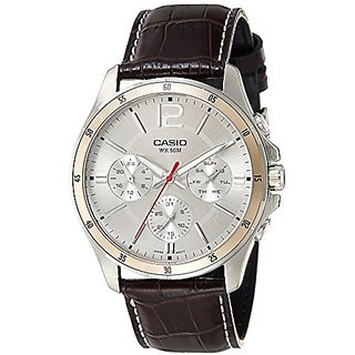 Casio Enticer Chronograph White Dial Mens Watch - MTP-1374L-7AVDF (A835)
