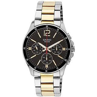 Casio Enticer Analog Black Dial Mens Watch - MTP-1374SG-1AVDF (A953)