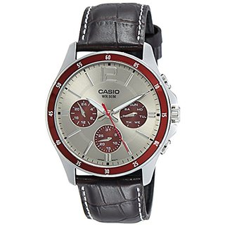 Casio Enticer Analog Grey Dial Mens Watch - MTP-1374L-7A1VDF (A955)