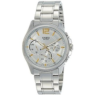 Casio Enticer Analog White Dial Womens Watch - MTP-E305D-7AVDF (A993)
