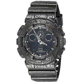 Casio G-Shock Analog-Digital Black Dial Mens Watch-GA-100CG-1ADR (G718)
