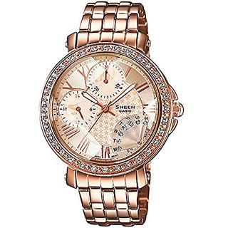 Casio Sheen Analog Pink Dial Womens Watch - SHN-3011PG-9ADR (SX143)