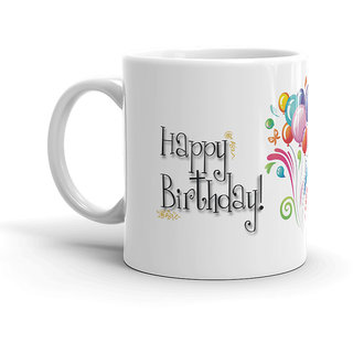 FS Birthday Gift Happy BirthdayGIft For Special White Coffee Mug 320ml BirthdAY Lover And GIrlfriend