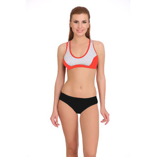 fafe2c31e82 Buy Fashion Comfortz Sports Red Sports Bra and Panty Set Online ...