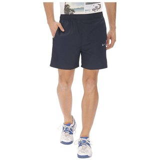 Nike Navy Blue Polyester Shorts for Men