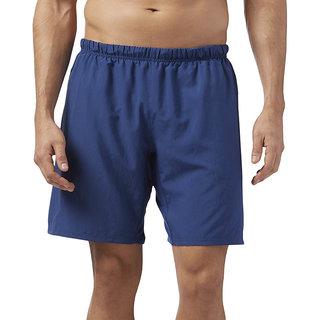 Reebok Navy Blue Polyester Shorts for Men