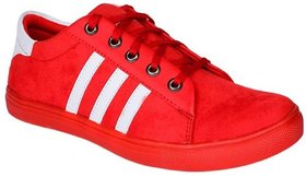 Red Casual Shoes For Boys