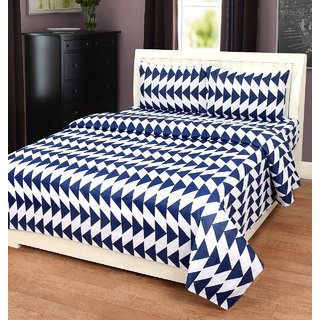 Manvi creations Latest design double bedsheet with 2 pillow covers
