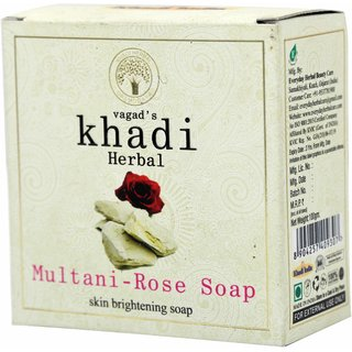 Vagad's Khadi Multani And Rose Milky Soap For Skin Brightening.
