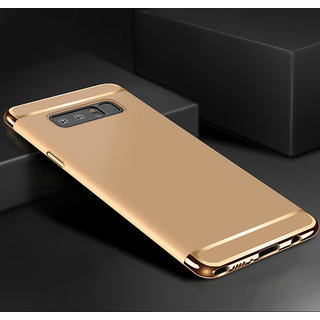 3 in 1 Full Body Slim Fit Joy Room Hybrid Hard Back Cover for Samsung Galaxy Note 8 - Gold