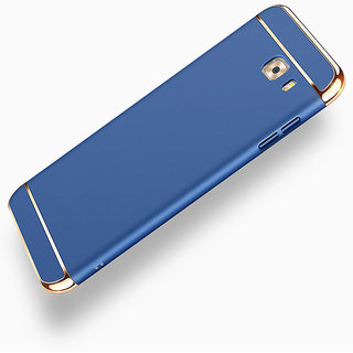 3 in 1 Full Body Slim Fit Joy Room Hybrid Hard Back Cover for Samsung Galaxy C9 Pro - Blue