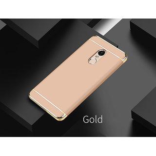 3 in 1 Full Body Slim Fit Joy Room Hybrid Hard Back Cover for Xiaomi Redmi Note 5 - Gold