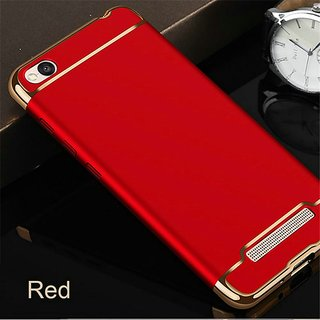 3 in 1 Full Body Slim Fit Joy Room Hybrid Hard Back Cover for Xiaomi Redmi 5A - Red