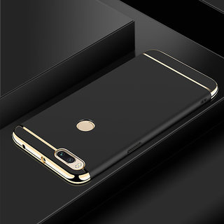 3 in 1 Full Body Slim Fit Joy Room Hybrid Hard Back Cover for Xiaomi Mi A1 - Black