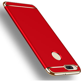 3 in 1 Full Body Slim Fit Joy Room Hybrid Hard Back Cover for Xiaomi Mi A1 - Red