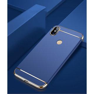 3 in 1 Full Body Slim Fit Joy Room Hybrid Hard Back Cover for Xiaomi Mi A2 - Blue