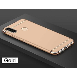 3 in 1 Full Body Slim Fit Joy Room Hybrid Hard Back Cover for Xiaomi Mi A2 - Gold