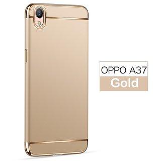3 in 1 Full Body Slim Fit Joy Room Hybrid Hard Back Cover for Oppo A37 -  Gold