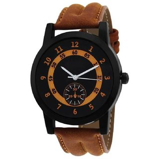 ONS Round Dial Chronograph Pattern Brown Analog Watch For Men