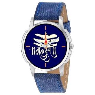 ONS Mahadev Denim Finish Blue Dial Watch For Men
