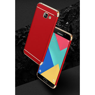 3 in 1 Full Body Slim Fit Joy Room Hybrid Hard Back Cover for Samsung Galaxy J7 Max - Red