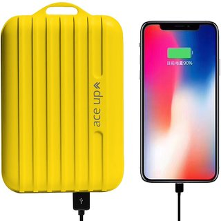 Ace Up 1 USB Port 5600 mAh Power Bank with Suitcase Style (Yellow Color)