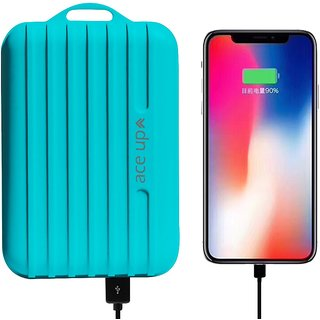 Ace Up 1 USB Port 5600 mAh Power Bank with Suitcase Style