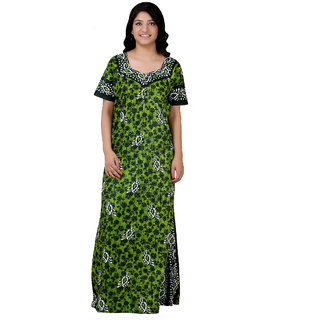 Glossia Printed Cotton Free Size Nighty For Women Girls(Size Fit 36 inch  upto 055d910b0