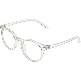 0f33a0cf837 Buy Zyaden Unisex White Polycarbonate Full Rim Round Eyeglasses Online -  Get 68% Off