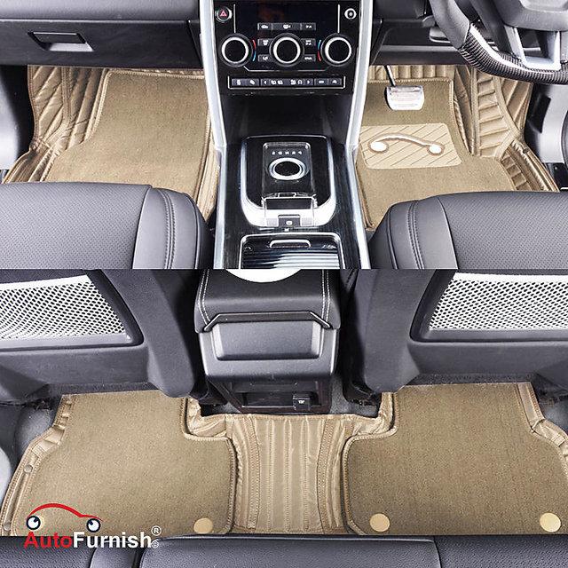 Autofurnish 7D Carbon Fiber Style Custom Fitted Car Mats For Tata Tiago -  Beige