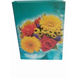 MULTI FLOWER PHOTO ALBUM ( SIZE 5x7-72 PHOTOS POCKETS ) MC2164