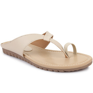 Picktoes Women's Beige Flat