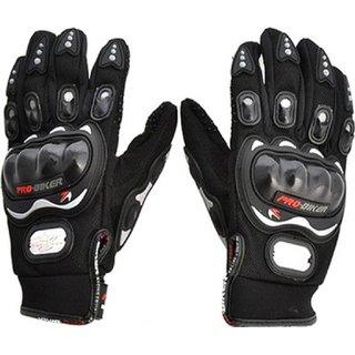 Ezzi deals Probiker ridding gloves , bike gloves full black (L) .