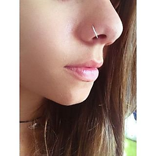 Silver Plated Sleek Wire Nose Ring