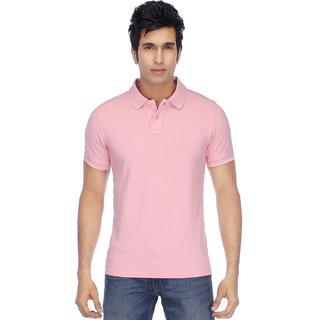 Funky Guys Men's Pink Polo Collar T-Shirt