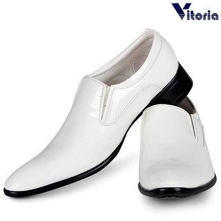 Vitoria White Slipon Shoes For Men