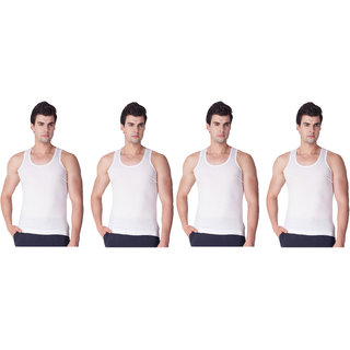 White Mens Inner Wear Pack of 4