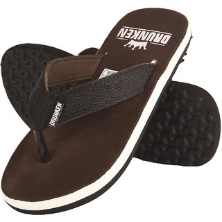dc255613836a Buy Drunken Men S Brown Relaxed Fit Thong Style Flip Flop Online - Get 35%  Off