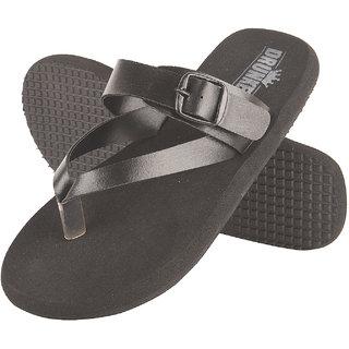 f03f94ece5bc Buy Drunken Men S Black Flip Flop Buckle Sandal Slippers Online - Get 36%  Off