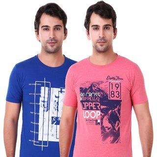 US Pepper Royal & Pink T-shirts (Pack of 2)