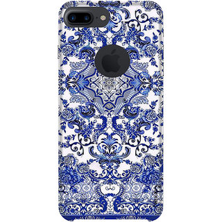 Nexzin Premium 3d Printed Designer  Art Blue Back Case Cover For  IPhone 8 Plus Logocut-Nxz455