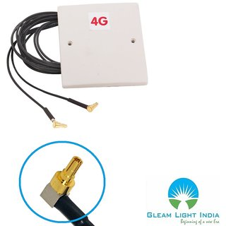 28dbi Gain Antenna with CRC9 Connector 2m Cable for Huawei 3G 4G LTE Router  Modem