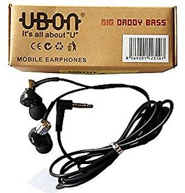 UBON UB1085 - CHAMP Big Daddy Bass Powerful Audio Earphone / Headphone with Mic 3.5 MM Jack bass powerful