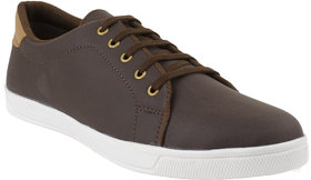 Marcella Men's Synthetic Casual Sneakers Brown Size-6